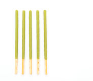 biscuit stick with green tea flavored Royalty Free Stock Images