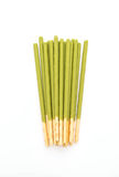biscuit stick with green tea flavored Royalty Free Stock Image
