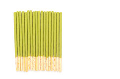 Biscuit stick with green tea flavored Royalty Free Stock Photos
