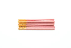 Biscuit stick with strawberry flavored Royalty Free Stock Image