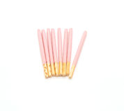 Biscuit stick with strawberry flavored Royalty Free Stock Photos