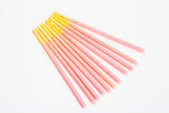 Biscuit stick strawberry Royalty Free Stock Photo