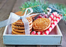 Biscuit sticks and cookies Stock Image