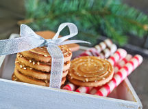 Biscuit sticks and cookies Royalty Free Stock Photography