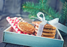 Biscuit sticks and cookies Royalty Free Stock Image