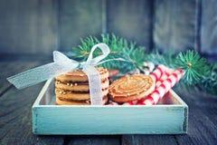 Biscuit sticks and cookies Stock Photos