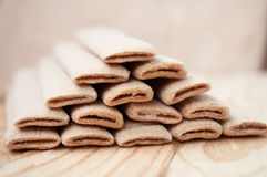 Biscuit sticks with filling Royalty Free Stock Image
