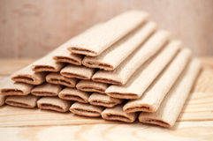 Biscuit sticks with filling Royalty Free Stock Photo