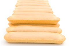 Biscuit sticks line up Royalty Free Stock Images