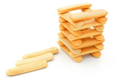Biscuit sticks stack up Stock Images