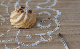 Biscuit with sugar Royalty Free Stock Images