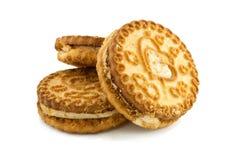Biscuit sur le fond blanc Photos libres de droits