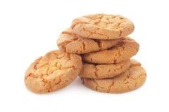 Biscuit sur un fond blanc Photo libre de droits