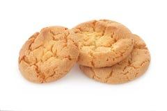 Biscuit sur un fond blanc Photos libres de droits