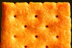 Biscuit surface texture scene. Royalty Free Stock Images