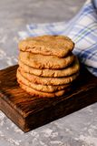 Biscuit sweet cookie background Stock Image