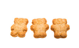 Biscuit teddy bear Stock Images