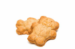 Biscuit teddy bear Royalty Free Stock Images