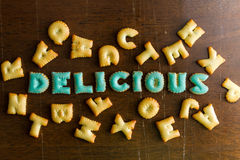 biscuit text Stock Images