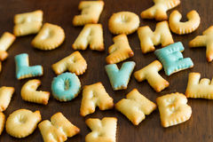 biscuit text Royalty Free Stock Image
