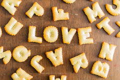 biscuit text Royalty Free Stock Images