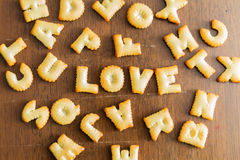 Biscuit text Stock Photography