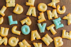 biscuit text Royalty Free Stock Photos