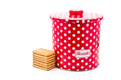 Biscuit Tin Stock Image