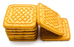 Biscuit tower  on white Stock Image