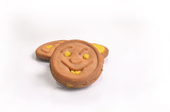 Smiley Biscuit in white baground Stock Image
