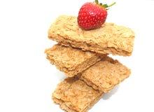Biscuites de déjeuner de blé Images libres de droits