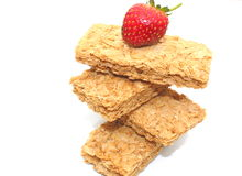 Biscuites della prima colazione del frumento Immagini Stock Libere da Diritti