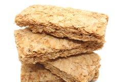 Biscuites della prima colazione del frumento Fotografie Stock Libere da Diritti