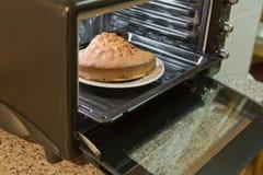 Biscuitgebak in de oven royalty-vrije stock afbeeldingen