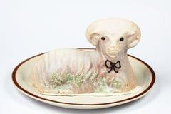 De cake van het lam royalty-vrije stock fotografie