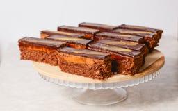 Biscuitgebak met zachte chocolade Stock Foto