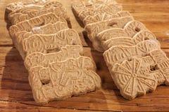 Biscuits épicés traditionnels de Noël Photos stock