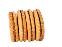 Biscuits. Over white Stock Photos