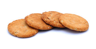 Biscuits. Four biscuits isolated on a white background Royalty Free Stock Images
