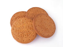 Biscuits. On a white background Royalty Free Stock Photography
