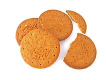 Biscuits. On a white background Stock Photography
