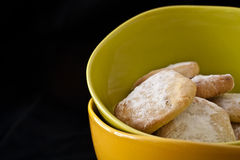 Biscuits. Green Citrus biscuits in a bol stock photography