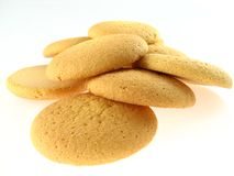 Biscuits. Isolated on the white background Royalty Free Stock Photo