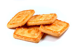 Biscuits. Isolated biscuits Stock Image