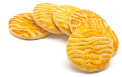 Biscuits. Good locking biscuits on white background Stock Images