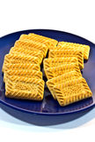 Biscuits on plate Royalty Free Stock Images