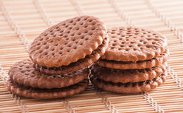 Biscuits. Chocolate biscuits on a table Royalty Free Stock Images