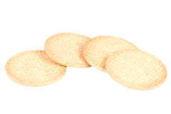 Biscuits. Over a white background Stock Photos