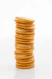 Biscuits. On a white background Royalty Free Stock Photo