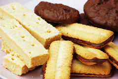 Biscuits. Shot of some biscuits on a plate for afternoon tea Royalty Free Stock Photo